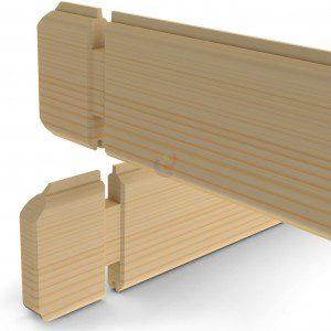 Blokhut planken 28 of 40 mm